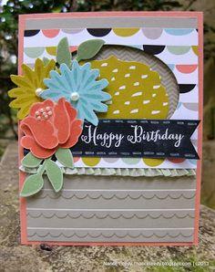 Nancy Lempinen-Leedy: Canopy Crafts –  A Simple Stems Chalkboard {PP177} - 1/5/14 (SU: Simple Stems (2014 Occ)/ Secret Garden framelits; Scallop EF; Sweet Sorbet dsp [2014 SAB])  (Pin#1: Flowers: SU-3D Dies...  Pin+: Chalkboard)
