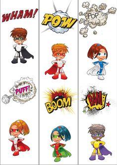 Teacher's Pet Displays » Superhero Themed Border (plain) » FREE downloadable…
