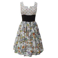 1970s boho vintage dirndl dress