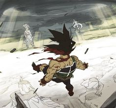 Bardocks final vision of his son, Goku fighting Frieza. #Bardock #DragonBallZ #DBZ #DBZClub
