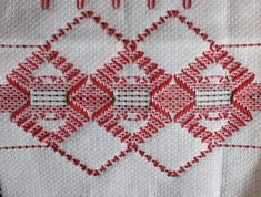 Swedish Embroidery, Swedish Weaving, Bargello, Sewing Notions, Shapes, Blanket, Crochet, Pattern, Crafts