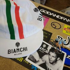 Fresh delivery of Bianchi caps in today.  #ridelots #brightenyourride