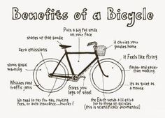 How many of you ride a bike as part of your fitness routine?  All good points! ^^