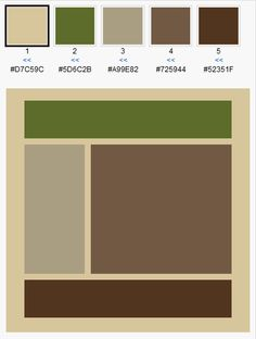 Brown & Green color scheme for our living room. Cream is the color of our