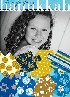 Wrapped Dreidels - Hanukkah Greeting Cards in Tropical | Magnolia Press