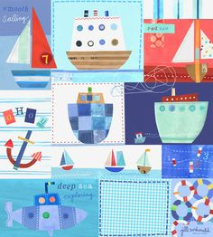 Nautical Art by Jill McDonald Design