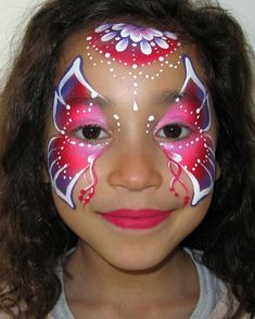 Butterfly face paint step by step by Audrey Miché
