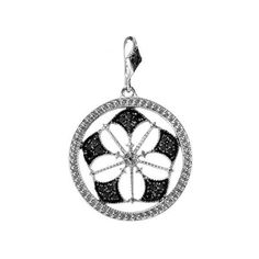 0.15 Carat (ctw) Sterling Silver Round Black Diamond Fancy Antique... ($40) ❤ liked on Polyvore featuring jewelry, pendants, sterling silver, sterling silver round pendant, sterling silver jewelry, antique sterling silver pendants, sterling silver pendant and sterling silver circle pendant