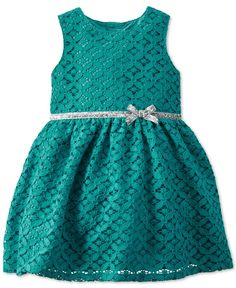Carter's Baby Girls' Turquoise Lace Dress