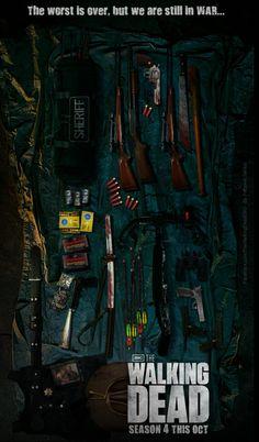 The Walking Dead Poster Season 4by ~Fabionei