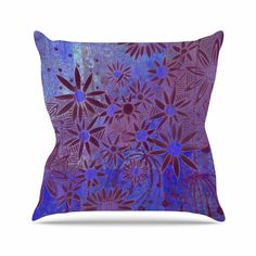 "Marianna Tankelevich ""Purple Night"" Purple Blue Outdoor Throw Pillow - KESS InHouse  - 1"