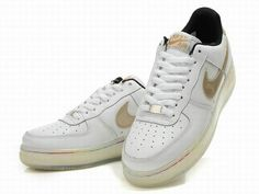 sports shoes cbac2 2f78b Nike Air Force One Light Up White Metallic Gold Shoes