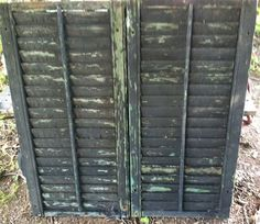 Vintage wood shutters exterior shutters by PrairieTreasure on Etsy, $28.00