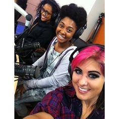 The girls in Cincinnati doing press for the Idol Tour!
