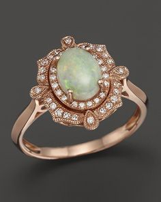 http://rubies.work/0053-karat-yellow-gold/ Bloomingdale's Opal and Diamond Antique Inspired Ring in 14K Rose Gold