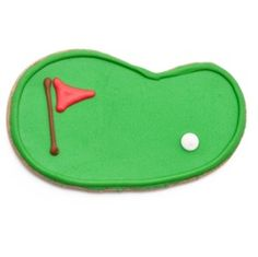 an easy golf green cookie design