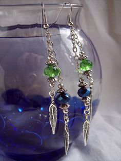 Seattle Seahawks Feather Earrings by theicepalace on Etsy