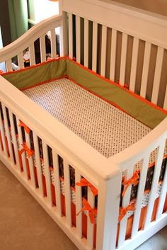 DIY crib bedding bc baby R is too cool for store bought ;)
