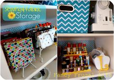 storing fabric in wire file organizers