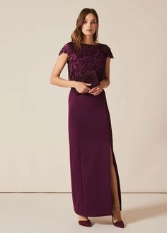 Buy Phase Eight Purple Olivia Scuba Maxi Dress from the Next UK online shop Fit Flare Dress, Fit And Flare, Beautiful Maxi Dresses, Light Dress, Phase Eight, Swing Dress, Black Tie, Knit Dress, Evening Dresses