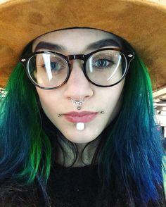 Anna Somna | VK Haircut And Color, Stretched Ears, Body Modifications, Dreads, Beauty Women, Plugs, Body Art, Piercings, Jewelery