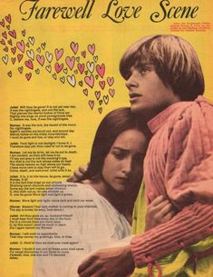 William Shakespeare, Romeo And Juliet Poster, Leonard Whiting, London Plays, Olivia Hussey, Posters Uk, Old Money, Love Scenes, Davy Jones