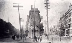 Before the Gooderham Building the Coffin Block stood on the triangle-y spot at Front & Church & Wellington. 1888. (Via @TODreamsProject)