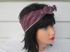 Knot headband Tie Headband Bow Bandana Adult by Ritaknitsall
