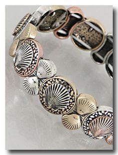 Antique Style Sea Shell Stackable Bracelet