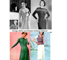Vintage Skirts, Blouses and Jackets to Knit - A Collection of vintage knitting patterns (Amazon Link)