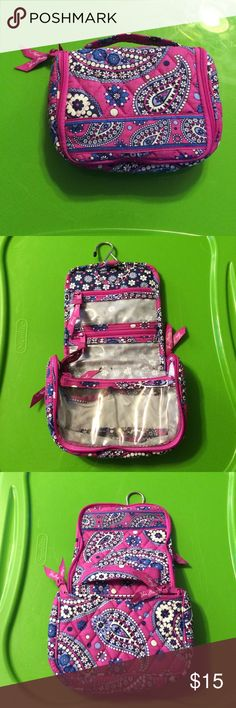 Hanging Travel Bag Used once or twice. Clean. No tears or marks. Vera Bradley Bags Cosmetic Bags & Cases