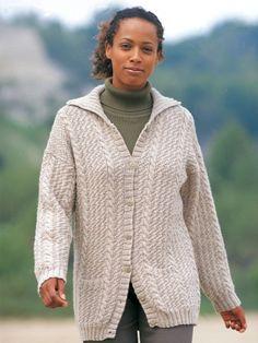 Hepburn cardigan, free download. Worsted, 6/7 needles.  http://www.yarnspirations.com/pattern/knitting/hepburn-cardigan