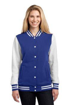 Sport-Tek LST270 Ladies Fleece Letterman Jacket  #sporttek #letterman