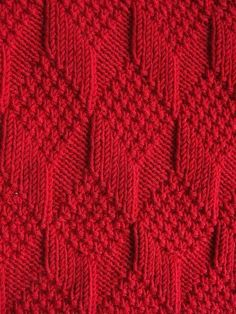 Moss Diamond and Lozenge Pattern   1000 Knitting Stiches, Knitting Charts, Baby Knitting Patterns, Knitting Designs, Free Knitting, Knitting Projects, Crochet Stitches, Stitch Patterns, Knit Crochet