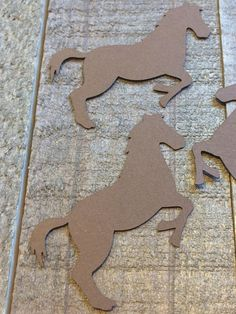 Brown Horse Table Confetti / Farm Animals Ranch Critter