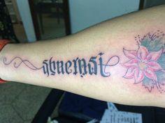 Tattoo. Ambigram