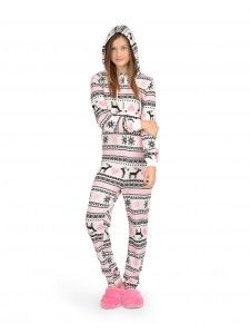 You've never felt as comfy as you will in this winter onesie!