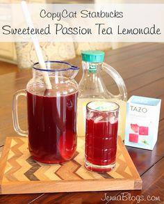 Sweetened Passion Tea Lemonade {Copycat Starbucks Recipe}