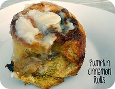 Pumpkin Cinnamon Rolls Recipe- these seriously melt in your mouth! They are the best cinnamon rolls I have ever had.