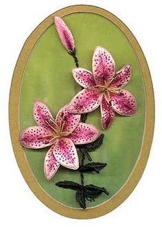Stargazer Lily (stumpwork & Brazilian embroidery)