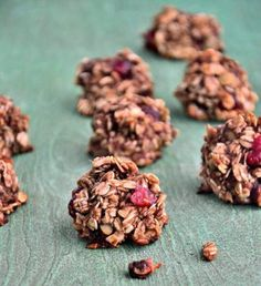 These no-bake, gluten-free cherry oatmeal cookies will make your mouth water. Good thing you don't need to wait for them to cool!