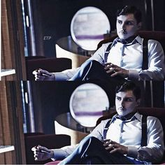Evan Peters as Mr. James Patrick March in AHS 5 Hotel