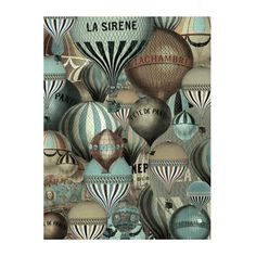 Mindy Sommers Solid-Faced Canvas Print Wall Art Print entitled Les Balloons, None Canvas Art Prints, Canvas Wall Art, Fine Art Prints, Canvas Canvas, Retro Poster, Vintage Posters, Ballon Illustration, Sea Glass Colors, Scrap