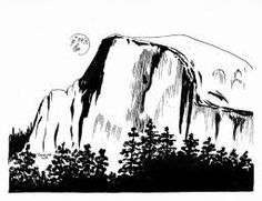 Image result for sketches of yosemite valley