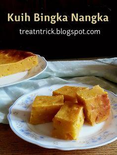 Kuih Bingka Nangka Recipe @ treatntrick.blogspot.com Traditional dessert made with jack fruit without butter and raising agents