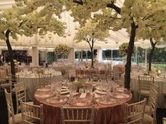 Floral heaven in our versatile marquee capable of seating up to 600 guests.