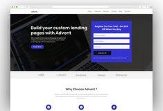 Advent - Multipurpose Landing Page & Marketing WordPress Theme Best Landing Page Design, Best Landing Pages, Content Marketing, Digital Marketing, Wordpress Landing Page, Template Site, Wordpress Template, Premium Wordpress Themes, Advent