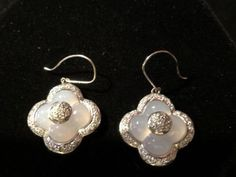 18k-White-Gold-70Ct-Diamond-Four-Leaf-Clover-Carved-Moonstone-Dangle-Earrings