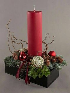 15 # to Weihnachten - Home Decoration Christmas Flower Arrangements, Pink Christmas Decorations, Christmas Flowers, Christmas Candles, Christmas Wood, Christmas Centerpieces, Christmas Time, Christmas Wreaths, Christmas Crafts
