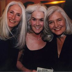 Helouise, Judith and Ellen, silver gray hair